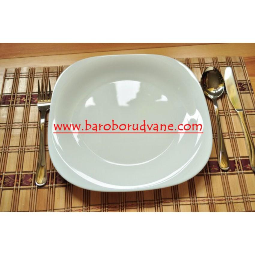 Основна чиния 26см бяла - Carine - 6 броя