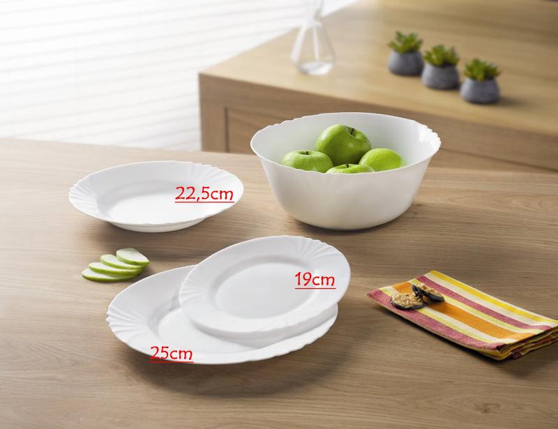 Десертна чиния 19см - 6 броя