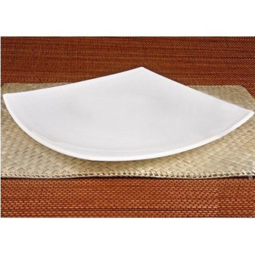 Десертна чиния 19см бяла - Quadrato - 6 броя