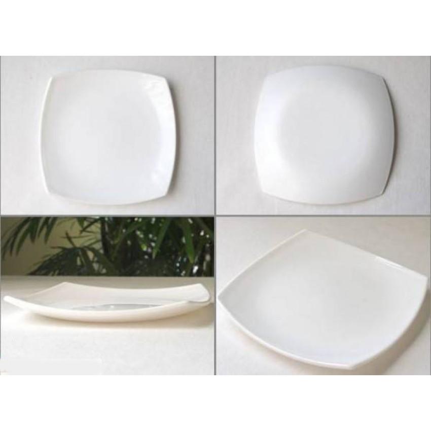 Основна чиния 26 см - бяла - Quadrato - 6 броя