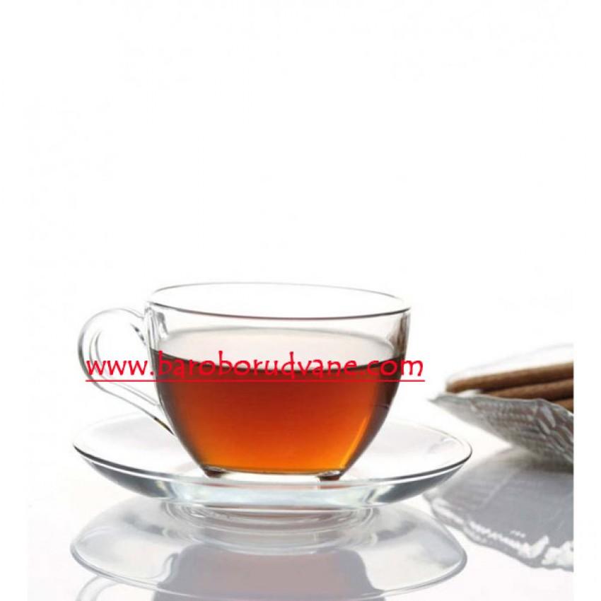 Чаша с чинийка 200ml Basic - 6 броя