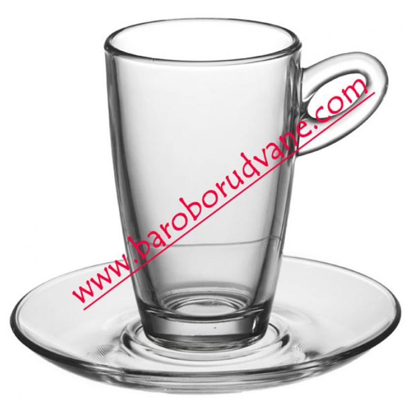 Чаша с чинийка за топли напитки 270ml - 12 броя